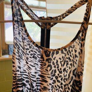 NWT cute black leopard dress